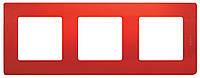 Рамка 3 поста Etika Красный, фото 1