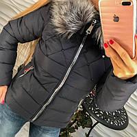 Женская куртка Стразики темно-синяя