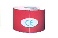 Кинезио тейп Kinesio tape DL NYLON 5 см х 5 м НЕЙЛОН красный