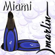 Ласты с закрытой пяткой Marlin Miami black/blue/silver/yellow