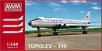 Самолет ТУ-110 1/144 AWM 43110