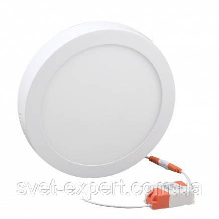 Светильник LED-SR-300-24 24Вт 6400К круг. накл. 300мм