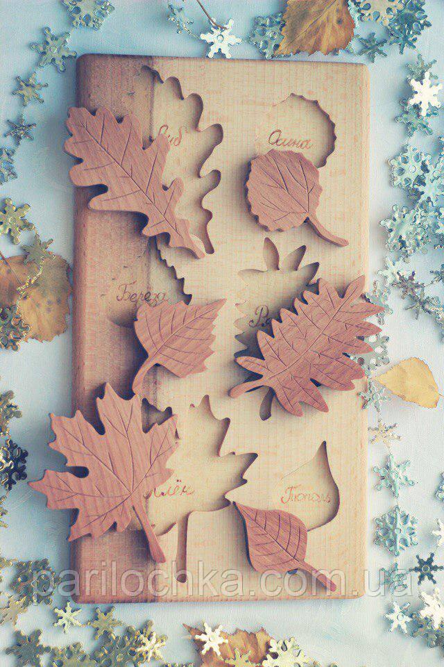 "Развивающий пазл из дерева ""Листья"""