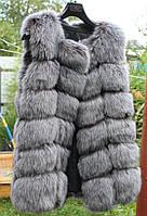 Меховая жилетка  Gray под чернобурку GZ021