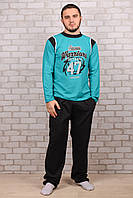 Мужской хлопковый костюм для дома Турция Night Angel E-0015 M/L. Размер 48-50.