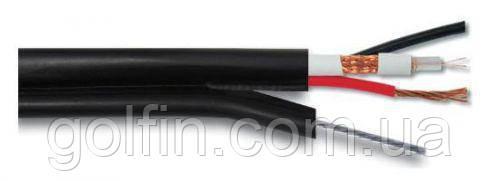 Абонентский коаксиальный кабель FinMark F5967BVM-2x0.75 POWER с дополнительными токоведущими проводниками