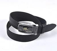 Мужской модный кожаный ремень HERMES (черный)