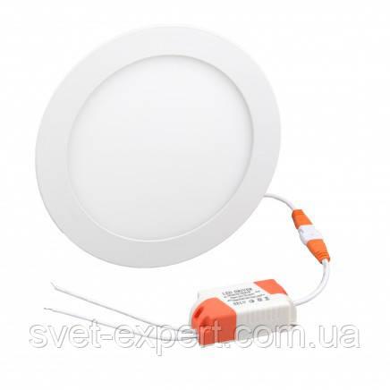 Светильник LED-R-170-12 12Вт 6400К круг встроенный