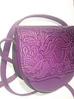 ШКІРЯНІ СУМКИ Фіолетового кольору гаряче тиснення