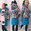 Куртка длиннаятеплаяна девочку 122,128,134, фото 7