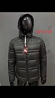 Зимняя мужская куртка, пух, черная
