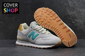 Мужские кроссовки New Balance 574, цвет - светло-серый, материал - замша, подошва - пенка 41