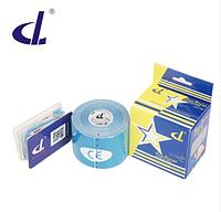 Кинезио тейп Kinesio tape DL RAYON 5 см х 5 м  ВИСКОЗА голубой