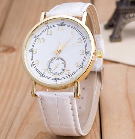 Часы Женева Geneva Питон белый ремешок, фото 2