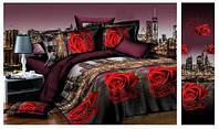 Евро комплект постельного белья - розы и Токио