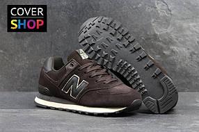Мужские кроссовки New Balance 574, цвет - коричневый, материал - замша, подошва - пенка 41