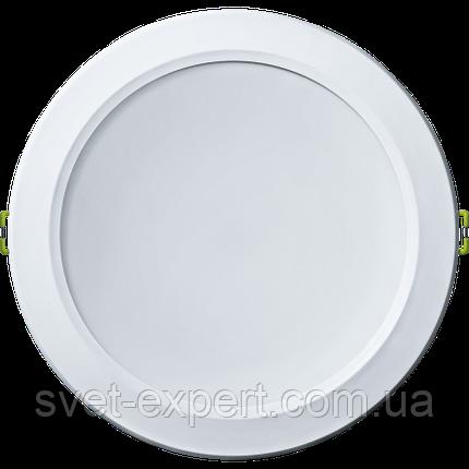 Navigator 94789 NDL-P1-25W-865-WH-LED (аналог Downlight КЛЛ 2х26) 25W/865 IP44 2200Лм 22, фото 2