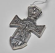 Большой серебряный крестик