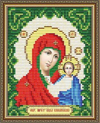 """Набор алмазной вышивки (мозаики) икона """"Богородица Казанская"""" формат А5, фото 2"""