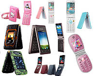 Женские и детские, раскладные, стильные машинки и изящные дамские мобильные телефоны