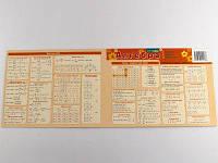 Картонка - подсказка Алгебра 40 * 15 см