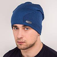 Вязаная мужская шапка зима 2018 - Fashion - Арт 0410