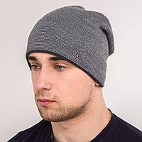 Вязаная мужская шапка зима 2018 - FS - Арт 2152
