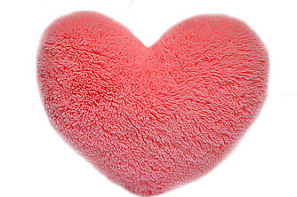 Плюшевая подушка Алина Сердце розовое 22см