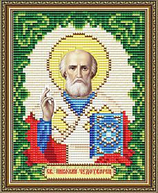 "Набор алмазной вышивки (мозаики) икона ""Святой Николай Чудотворец"" формат А5"