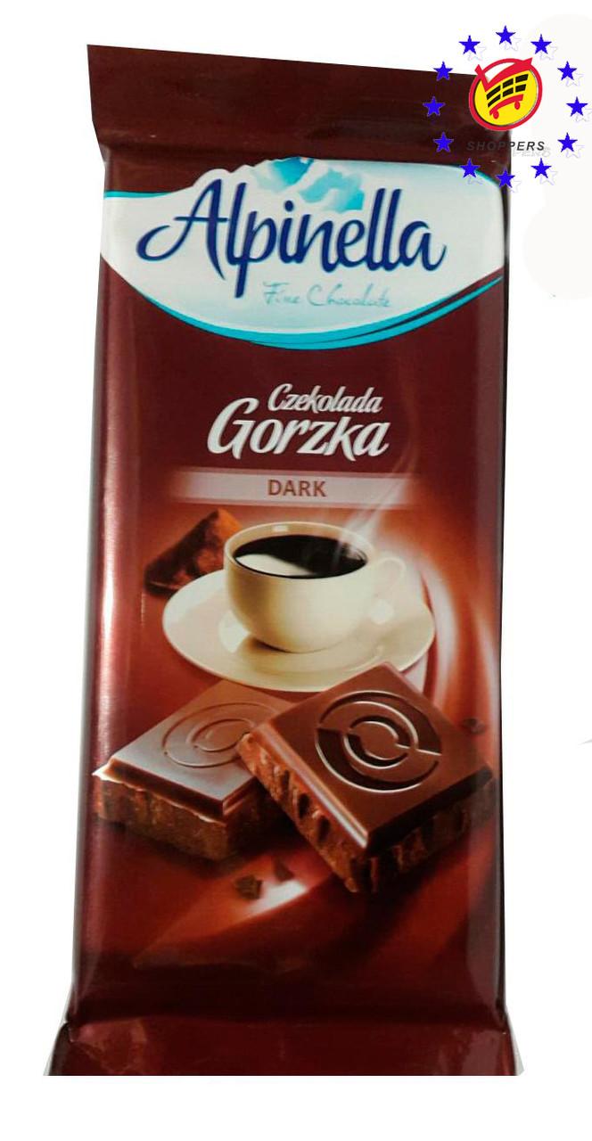 """Шоколад """"Alpinella Gorzka"""" черный 90г"""