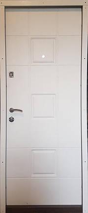 Входная дверь модель П3-362 скол дуба черный/белый, фото 2