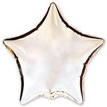 Шар звезда 10 см серебро