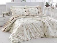 Комплект постельного белья First Choice Satin Cotton Евро Ares-krem