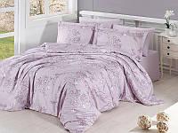 Комплект постельного белья First Choice Satin Cotton Евро Dolaris Violet