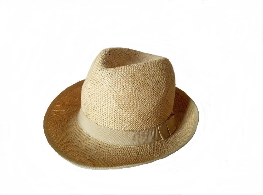 Летняя мужская шляпа из натуральной соломки