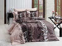 Комплект постельного белья First Choice Satin Cotton Евро Eylul kahve