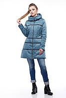 Модная молодежная куртка Василиса зеленый атлас, фото 1