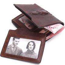 """Компактный мужской кожаный кошелек """"Contacts"""", фото 3"""
