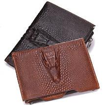"""Компактный мужской кожаный кошелек """"Contacts"""", фото 2"""