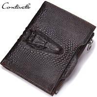 """Компактный мужской кожаный кошелек """"Contacts"""""""