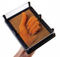 3D скульптор Гвозди Pin Art 18 см оранжевые ( детское творчество )