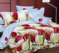 Постельное белье Тюльпановый рай, сатин 100%хлопок - полуторный комплект