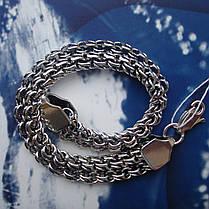 Серебряный браслет, 210мм, 22,5 грамма, плетение двойной Бисмарк, фото 3