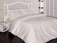 Комплект постельного белья First Choice Satin Cotton семейный Vanessa Krem