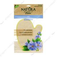 Natura Vita Варежка-мочалка с натуральными волокнами льна