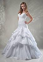 Белое свадебное платье-цветок с кристаллами Swarovski, бедровка, размер 42-46