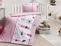Комплект постельного белья детский First Choice Satin Bamboo Love Bunny