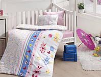 Комплект постельного белья детский First Choice Satin Bamboo Sweet Toys Pembe