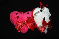 Товары ко дню Святого Валентина, сувенир сердце мягкое с камешками, длина: 12 см, 6 штук в упаковке