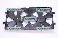 Электровентилятор радиатора Чери Амулет (двойной в сборе)  (А15-1308010)